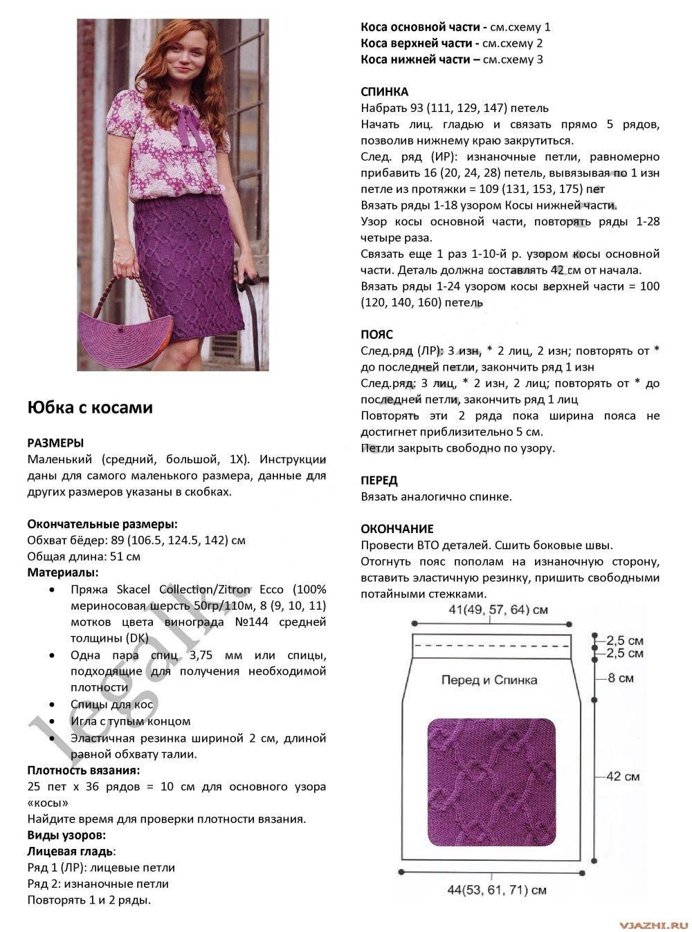 Вязание юбка спицами схемы и описание для  560