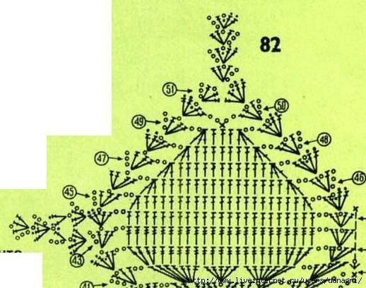 схемы вязания лифа крючком