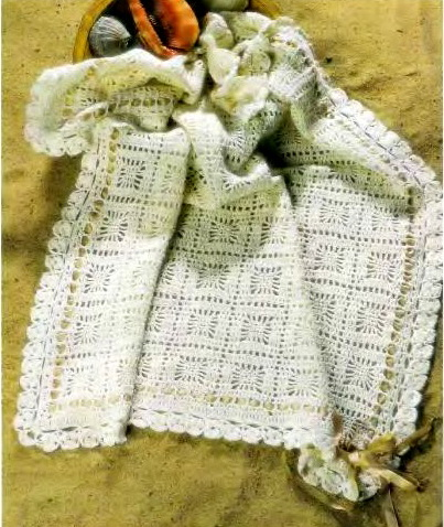 Детский плед. Схема вязания