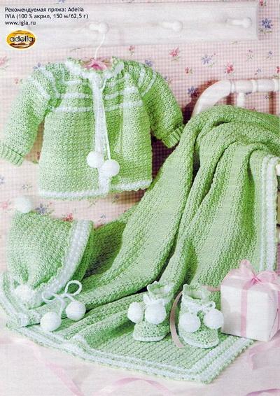 схема вязания детской кофточки