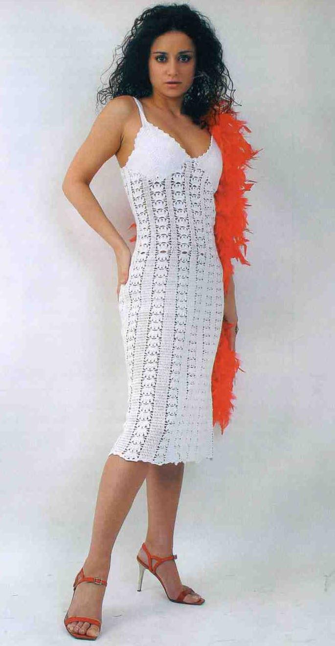крючок схема платье