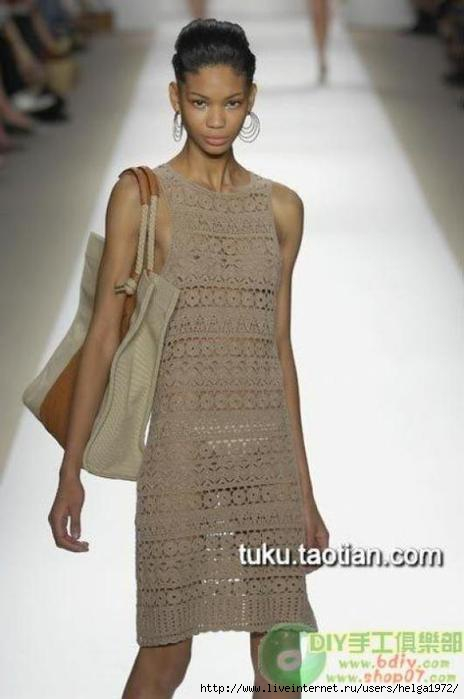 Схема вязания крючком. платья