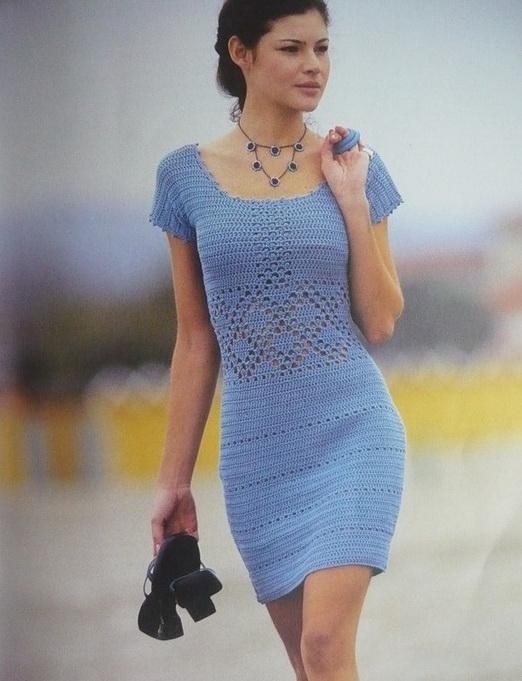 Небесное платье. Схема вязания