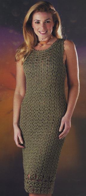 Платье крючком. Схема вязания