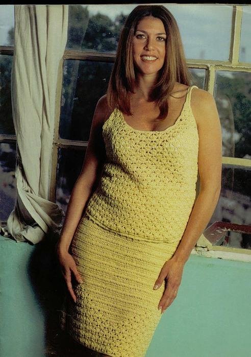 Топ и юбка больших размеров.