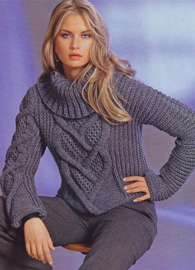 Вязанные свитера пуловеры