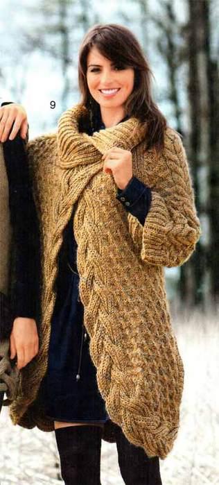 Пальто-жакет с узором,