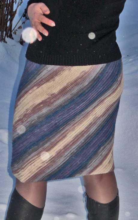 Теплая зимняя юбка, вязание