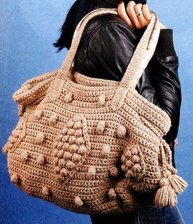 вязаные сумки | Просмотров: