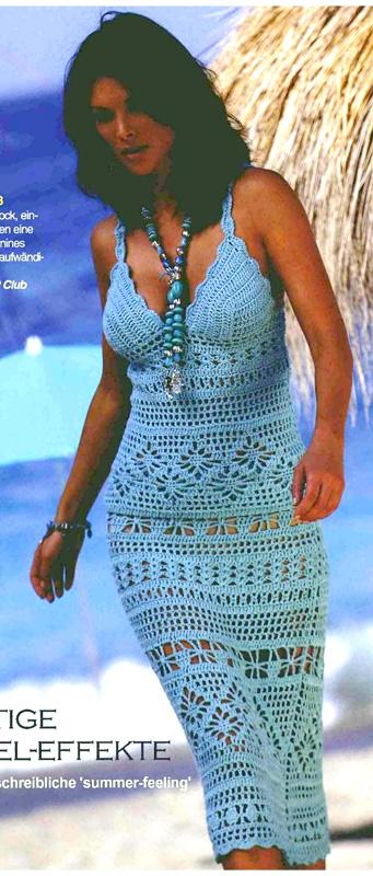 Ажурная юбка и топ. Схема