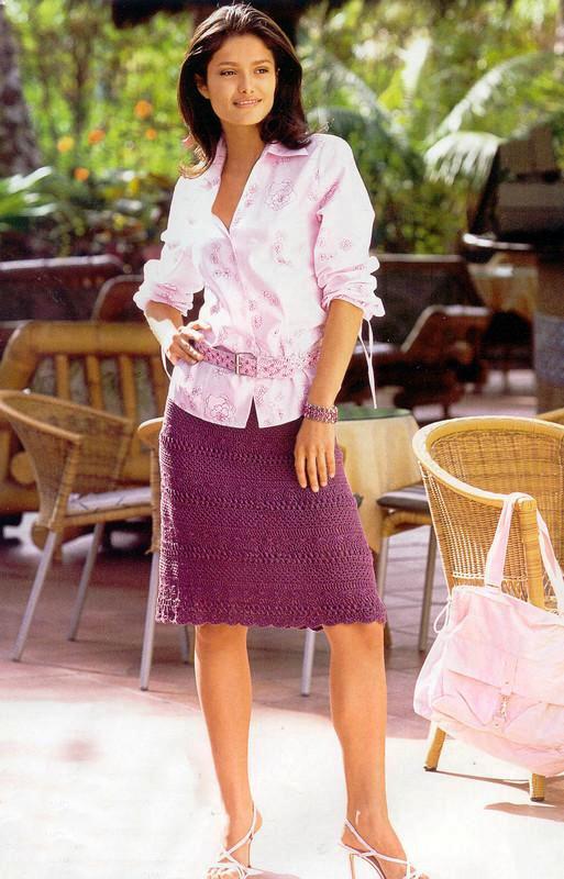Узорная юбка. Схема вязания